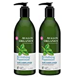 Cheap Avalon Organics Hand and Body Lotion Peppermint With Organic Peppermint Essential Oil, Organic Aloe, Vitamin E and the Rich Oat Nutrition of Beta-Glucan, 12 oz (340 g) (Pack of 2)