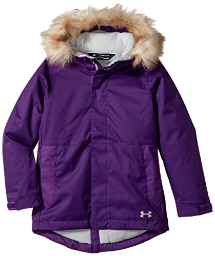 Under Armor Girls' ColdGear Reactor Yonders Parka, Indulge/Overcast Gray, Youth Large by Under Armour