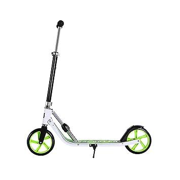 Ftrule Scooter Verde de Dos Ruedas for Adultos 5-16 años ...