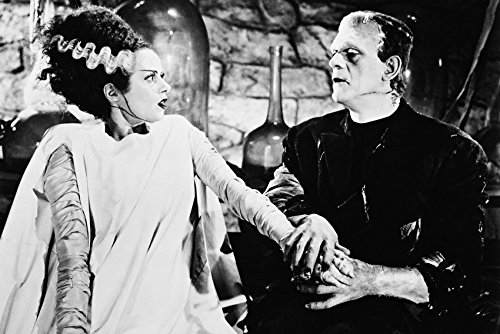 Erthstore 11x17 inch Wall Poster of Bride of Frankenstein Mary Shelley Comes to Life Elsa Lanchester Boris Karloff]()