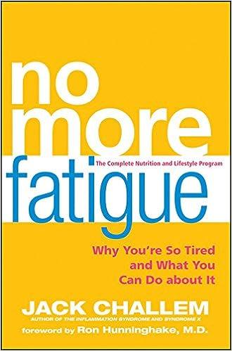 No More Fatigue book cover