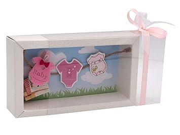 Zauberdeko Geldgeschenk Verpackung Baby Strampler Rosa Blau Geburt Junge Mädchen Taufe Gutschein Themamädchen1