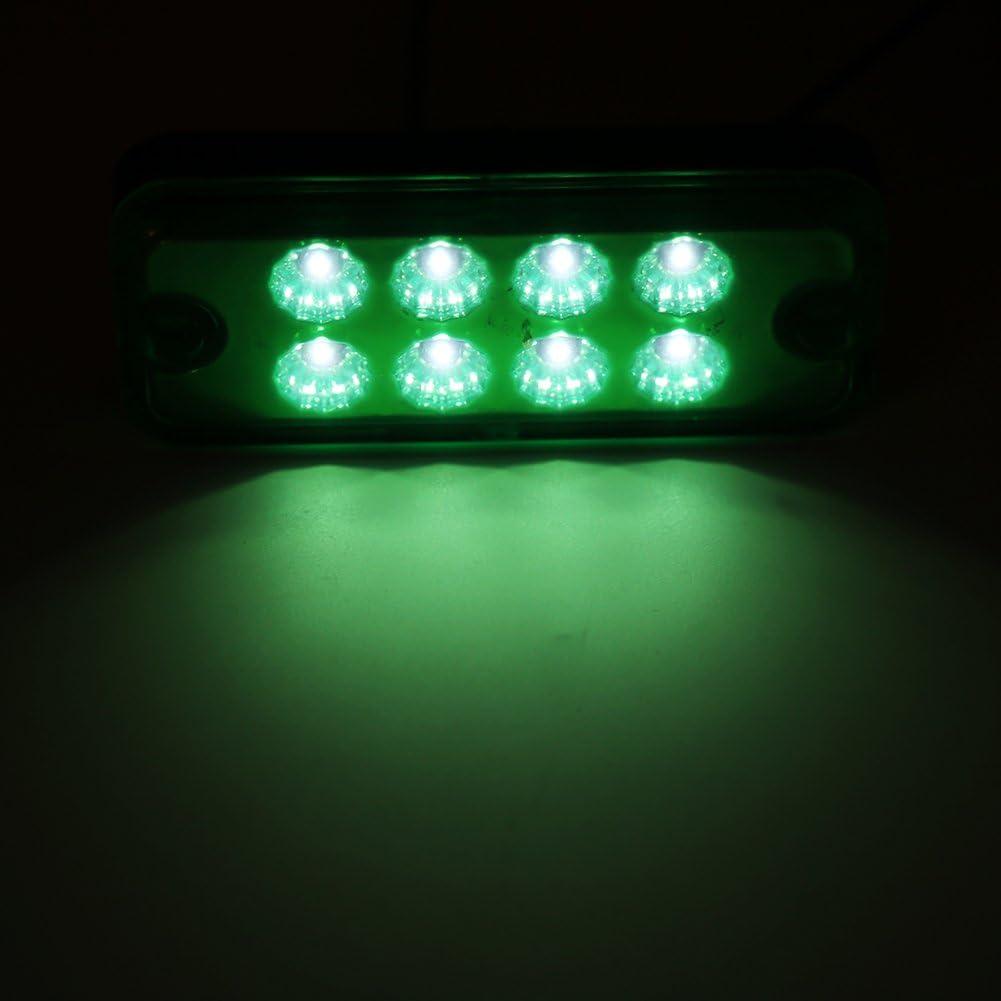 6 PCS Luces Laterales del Marcador del LED para 12V Remolques de Camiones Super Brillante Impermeable 9.5 x 4 x 1.5 cm 8 LEDs Indicador de seguridad rojo