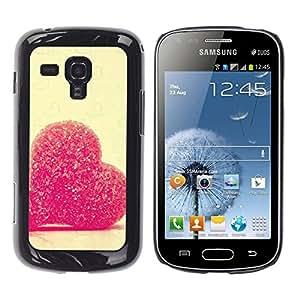 Be Good Phone Accessory // Dura Cáscara cubierta Protectora Caso Carcasa Funda de Protección para Samsung Galaxy S Duos S7562 // Love Candy Heart