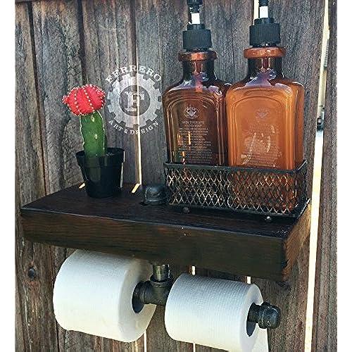 Charmant Rustic Paper Dispenser, Toilet Paper Dispenser, Reclaimed Wood, Industrial  Pipes, Steampunk Decor, Bathroom Decor, Home Decor, Unique Decor
