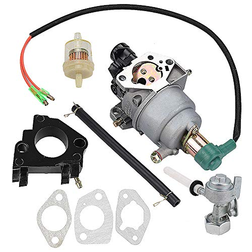Harbot Carburetor for Wen Power Pro 56551 56680 56682 5500 6800 7000E 9000E R390 389CC 390CC 13HP Generator with Fuel Shutoff Valve Line Gasket