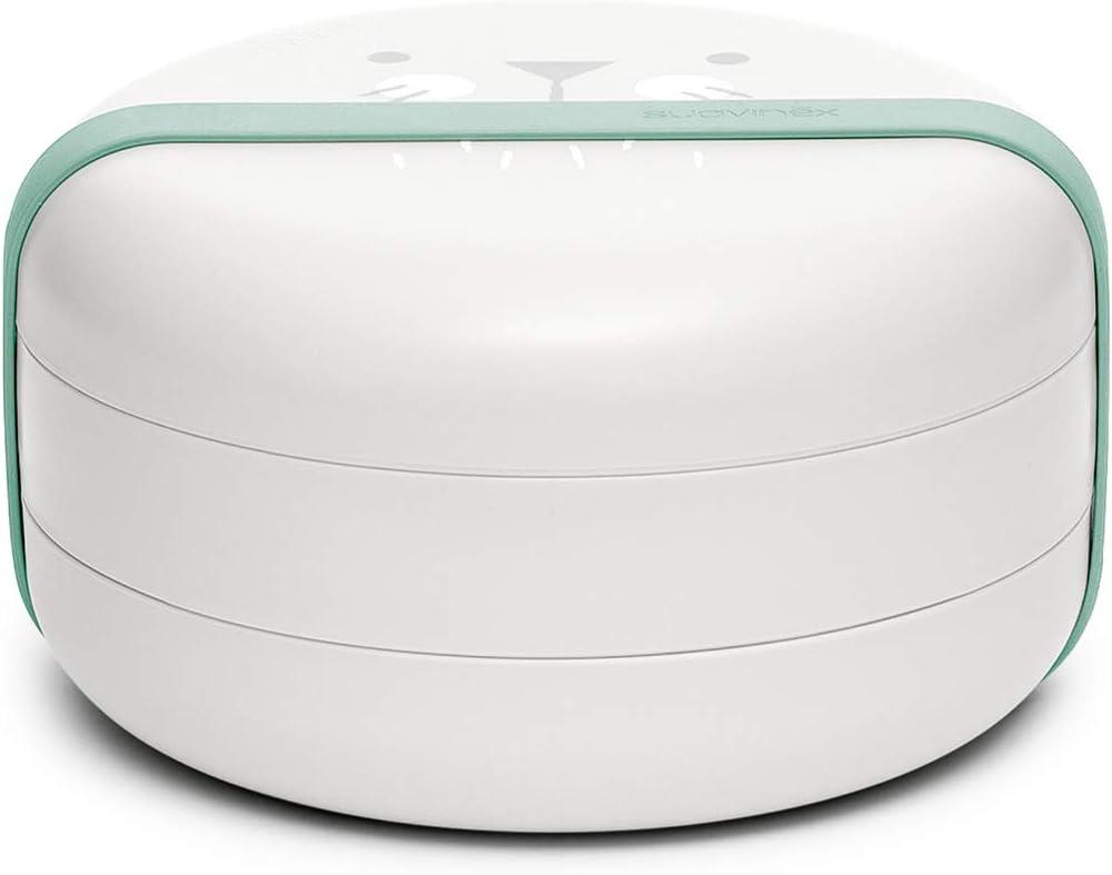 Suavinex - Set Platos Combinables Para Comer Fuera de Casa Capacidad 2 Comidas Apto Para Microondas y Lavavajillas Para Bebés +4 Meses, Color Gris