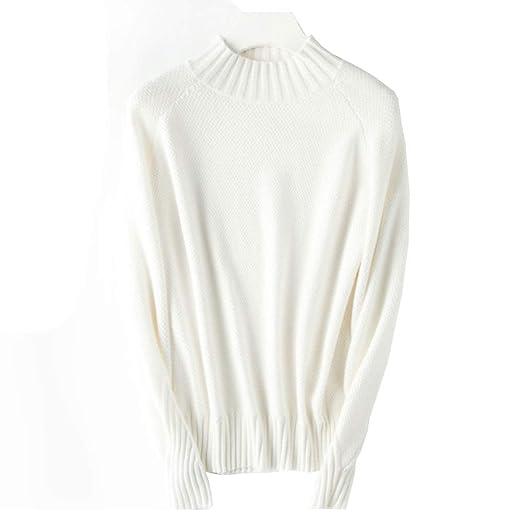 WTDlove Suéter de Fondo de otoño e Invierno suéter de Cuello ...