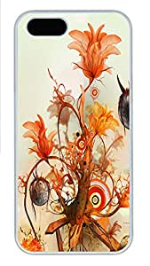 iPhone 5 5S Case Abstract Flowers 1 PC Custom iPhone 5 5S Case Cover White