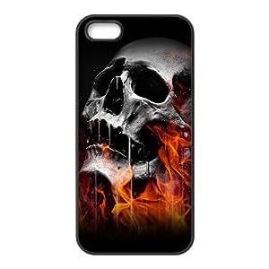 Burning melting skull Phone Case for iPhone 5S(TPU)