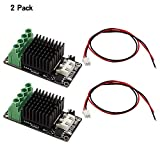 Mini Heat Bed Module, FYSETC Hot Bed Power Expansion Board High Current Load Module MOS Tube Hot Bed Mosfet with Cables for 3D Printer - 2 Pack