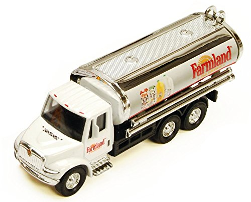 International Farmland Dairy 5½-inch Tanker Truck with Pullback Motorized Action 1/55 scale