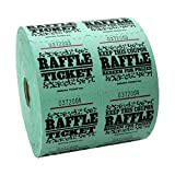 Green Raffle Tickets : roll of 1000