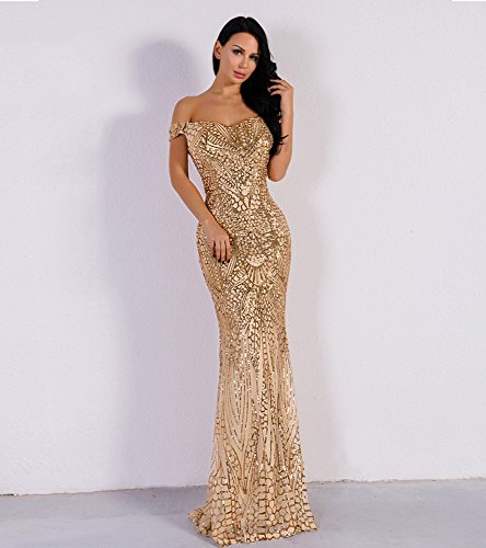 f844eaf4e7 LinlinQ Women Bra Sequin Maxi Evening Party Dress