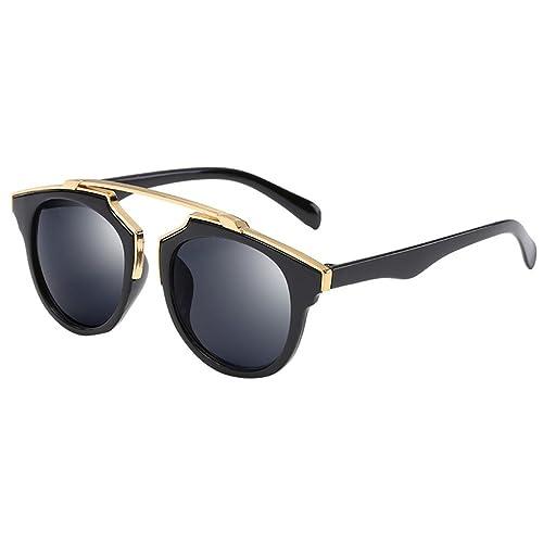 Heheja Gafas De Sol Para Mujer y Hombre UV400 Lente De Espejo Ojo De Gato