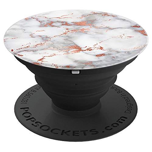 Rose Gold Flake White Marble - PopSockets Grip and Stand for Phones and Tablets
