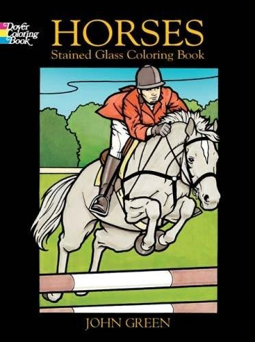 Download Horses Stained Glass Coloring Book (Dover Nature Stained Glass Coloring Book) pdf