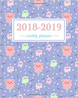 Amazon.com: 2018-2019 Weekly Planner: Kawaii Cat Cotton ...