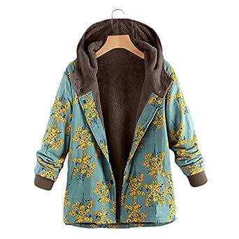 Amazon.com: Der Womens Coat Womens Floral Print Coat