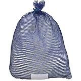 Mesh Laundry Bag, Blu, Rubber Closure, PK12