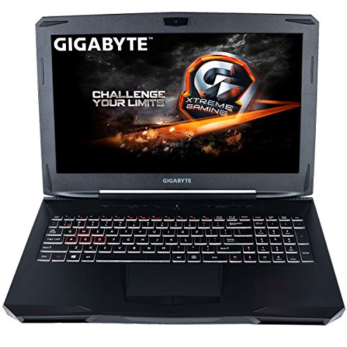 CUK Gigabyte SabrePro Gamer VR Ready Notebook (Intel i7-7700HQ, 16GB DDR4 RAM, 256GB NVMe + 1TB HDD, NVIDIA GTX 1060 6GB) 15.6-inch Full HD Windows 10 Home Gaming Laptop Computer