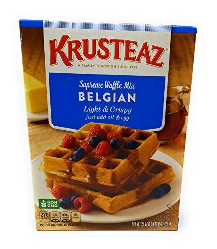 (Krusteaz, Light & Crispy Belgian Waffle Mix, 28oz Box (Pack of 3))
