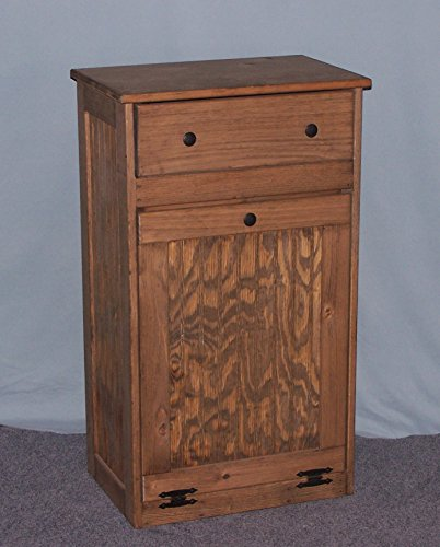 Wooden Tilt-out Trash Bin with Drawer