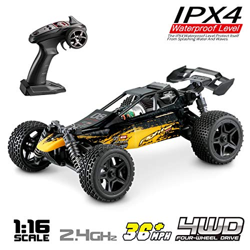 Hosim 1:16 Scale 4WD Remote Control RC Truck G171, High Speed Racing Vehicle 36km/h Radio Controlled Off-Road 2.4Ghz RC Car Electronic Monster Hobby Truck R/C RTR Car Buggy for Kids Adults Birthday ()