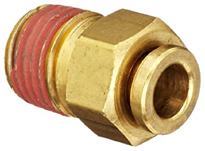 Dixon 68 Series Brass Push-to-Connect Air Tube Fitting, Male Connector, Tube OD x NPTF Male