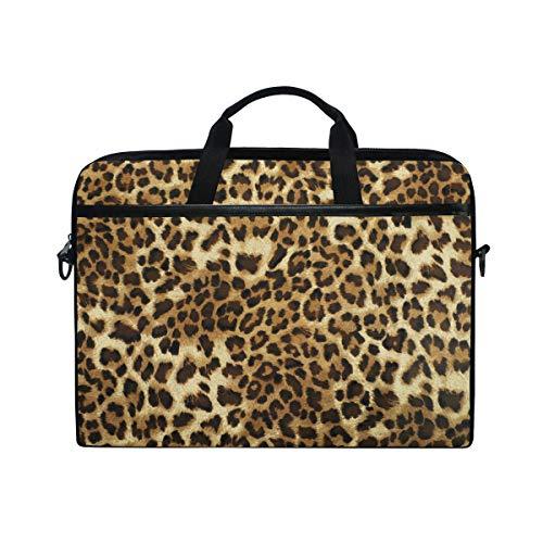 TropicalLife Laptop Bag Vintage Animal Leopard Tiger Print Lightweight Briefcase Shoulder Messenger Bag Laptop Case Sleeve for 11.6-15 inch MacBook Pro, MacBook Air Laptop and Tablet