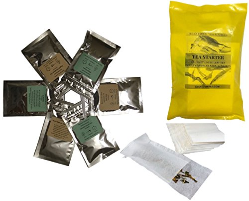 (Beantown Tea & Spices - Tea Starter Sampler Variety Pack. 5 Premium Loose Leaf Tea Samplers & 25 Tea Filters. 12 Combinations To Choose From (Best Sellers Samplers))