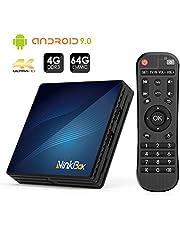 Android 9.0 TV Box 4GB RAM+64GB ROM, NinkBox N1 MAX RK3318 Quad-Core 64bit Cortex-A53, TV Box de Bluetooth 4.0, WiFi 2.4G/5G, 3D Ultra HD 4K, USB 3.0, BT 4.0 Smart TV Box