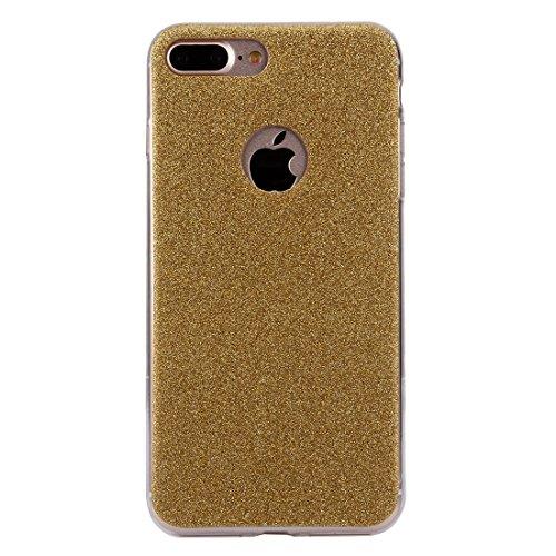MXNET IPhone 7 Plus Case, Glitzer Powder Soft TPU Schutzhülle CASE FÜR IPHONE 7 PLUS ( Color : Gold )