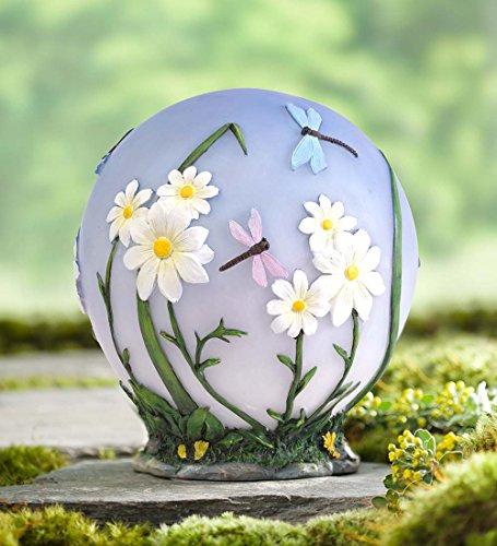 Glowing LED Daisy Garden Globe by Plow & Hearth