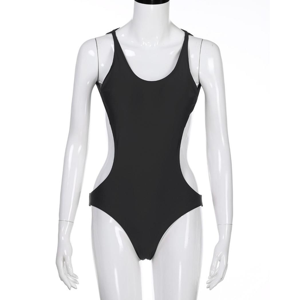 206898cce9036 Minisoya Women One-Piece Swimsuit Bandage Bikini Push-up Monokini Strappy  Bodysuit Backless Bathing Suit Swimwear at Amazon Women s Clothing store