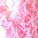 Sothread 40PCS Glow In The Dark Plastic Stars Stickers Baby Kids Ceiling Wall Room. (Pink)