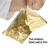 Bememo 100 Sheets Imitation Gold Leaf for