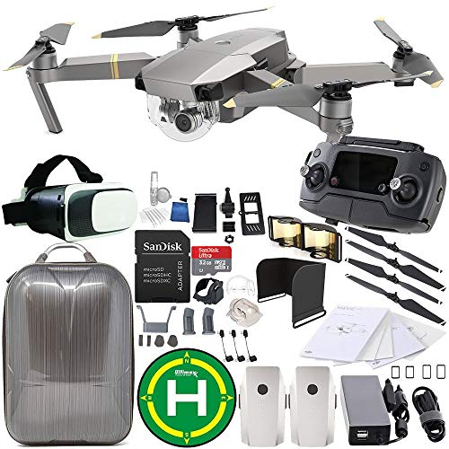 DJI Mavic Pro Platinum Collapsible Quadcopter Essential Bundle