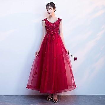 YT-RE la Novia Vestido Rojo Hombro con Cuello en V Cintura Alta Mujeres Embarazadas