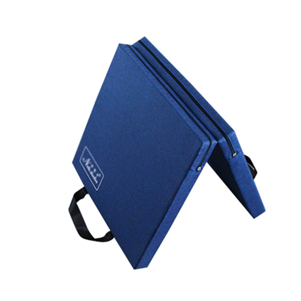 ZJ 体操用マット5cm厚手折りたたみパネル体操用フィットネス、体操、エアロビクス、ヨガ、格闘技大人子供用ダンスマット (色 : 青, サイズ さいず : 80×160×5cm) 80×160×5cm 青 B07MKPVYGC