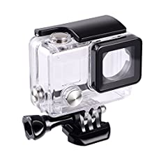 Suptig Waterproof Case Protective Housing for GoPro Hero 4, Hero 3+, Hero3 Outside Sport Camera For Underwater Use - Water Resistant up to 147ft (45m)