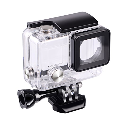 (Suptig Replacement Waterproof Case Protective Housing for GoPro Hero 4, Hero 3+, Hero3 Outside Sport Camera for Underwater Use - Water Resistant up to 147ft (45m))