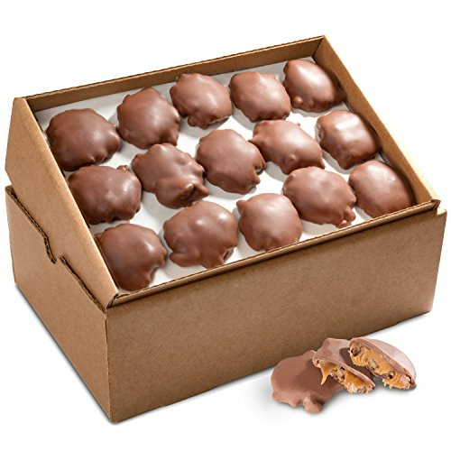 Golden State Fruit Bulk Pecan Clusters, Milk Chocolate Caramel, 5 -