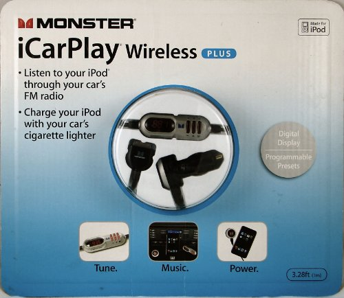 Monster Cable Icarplay Wireless Fm Transmitter - Monster Cable iCarPlay FM Wireless Plus for iPod iPhone