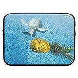 Laptop Briefcase Pineapples Underwater Laptop Sleeve Waterproof Neoprene Diving Fabric Laptop Bag for IPad, Notebook/Ultrabook/Acer/Asus/Dell