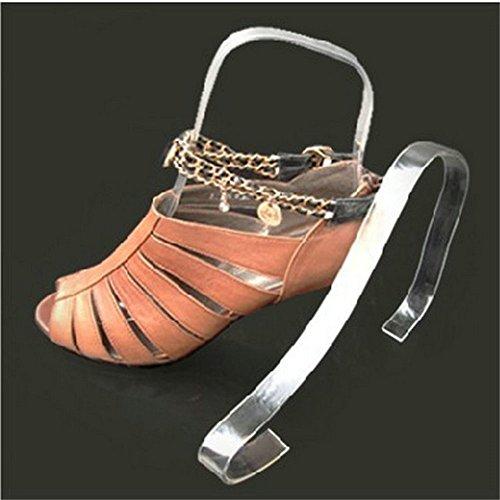 para minorista Mujer Zapatos 5 Zapatos 10Pcs de Formas Insertos Plexiglás Expositor Árboles acrílico Transparente Zapatos Pares de glasstore Tacón Sandalias Alto Tienda qXS6wYx