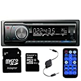 Panlelo PA6219G16, Car AM/FM and MP3 Stereo Radio Receiver Aux with USB Port and SD Card Slot With 16G Flash C10 High Speed Memory CardBand Built-in Bluetooth hands free calls 3.5MM Audio Cable