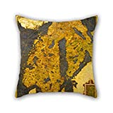 Oil Painting Egnazio Danti - The Scandinavian Peninsula Pillow...