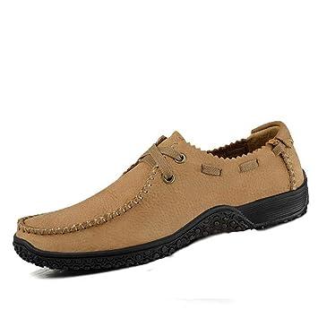 YAN Zapatos de Hombre Zapatos de Negocios de Otoño y Invierno de Cuero con Cordones 2018 Mocasines de Moda Zapatos Deportivos Diario/Diario Zapatos de ...