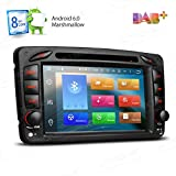 XTRONS Android 6.0 Octa-Core 64Bit 7 Inch Capacitive Touch Screen Car Stereo Radio DVD Player GPS CANbus Screen Mirroring Function OBD2 Tire Pressure Monitoring for Mercedes Benz W203 W209 W463